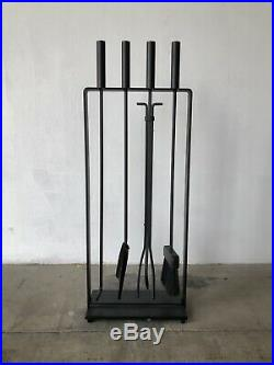 Mid Century Modern Fireplace Tools Set by Pilgrim attb. George Nelson Eames Era