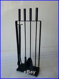 Mid Century Modern Pilgrim USA #15 George Nelson Iron Fireplace Tools Set! Xlnt