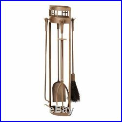 Minuteman International Arts and Crafts 5 pc. Roman Bronze Fireplace Tool Set