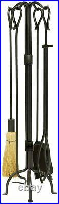 Minuteman International Country Classic 5-piece Wrought Iron Fireplace Tool Set