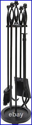 Minuteman International Lincoln Fireplace Tool Set Black New