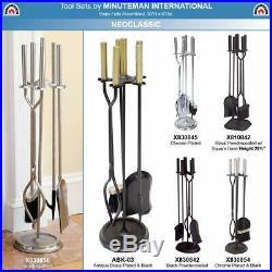 Minuteman International Neoclassic 5-piece Fireplace Round Base Black Tool Set