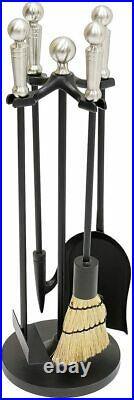 Minuteman International Paxton Mini Fireplace Tool Set Satin Nickel New