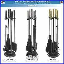 Minuteman International WR-48CH Fireplace Tool Set Chrome