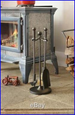 Minuteman MINI14BK Paxton Mini Fireplace Tool Set- Black