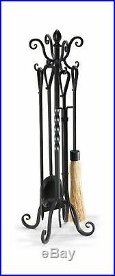 NAPA FORGE Pilgrim Home Hearth 19006 Victorian Fireplace Tool Set, Black, 33