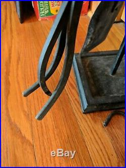 PILGRIM MATTE BLACK 5 pc. Fireplace tool set handles Colonial