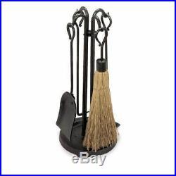Pilgrim 18000 5 Piece Raised Hearth Stove Tool Set Vintage Iron
