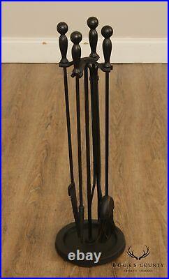 Pilgrim Forged Iron 5 Piece Fire Place Tool Set