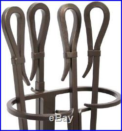 Pilgrim Home And Hearth 18047 Iron Gate Tool Set, 28' H, 18 Lb, Burnished Bronze
