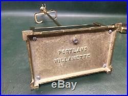 Portland Willamette Polished Brass Fireplace Tool Set Mid Century Modern Design