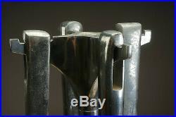 Rare 1980s Italy UMBRA FUEGO Aluminum Fireplace Tool Set Poker Tongs Brush Pan