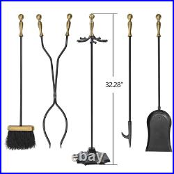 Real Fireplace Home Tools Accessories Equipment Stand Poker Shovel Brush Stick