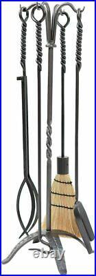 Rope Fireplace Tool Set Graphite/Black New