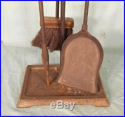 Set Of MID Century Modern Donald Deskey Fireplace Tools And Stand