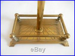 Solid brass fireplace tool set with horse head handles FREE SHIPPING