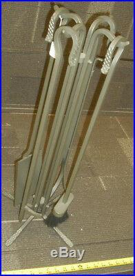 Stoll Simplicity 5 Piece Iron Tool Set Fireplace Tool Set Nickel Vien