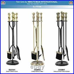 Sutton 5-piece Fireplace Tool Set, Antique Brass Antique Brass