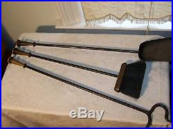 The Best Heavy Hand Forged Iron & Brass Antique Fireplace Tools Tool Set