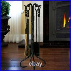 UniFlame 5 Pc. Swirl Fireplace Tool Set (Bronze)