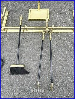 VINTAGE VIRGINIA METALCRAFTERS FIREPLACE TOOL SET The Best Beautiful Solid Brass