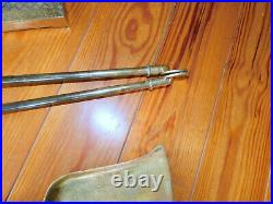 Va Metalcrafters/ Harvin Brass 5 Piece All Brass Fireplace Tool Set