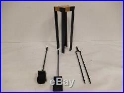 Valcourt Duplex Fireplace Tool Set AC02620 Broom Shovel Clamp Missing Poker
