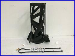 Valcourt Papyrus Fireplace Tool Set AC02622 Broom Poker Shovel Tongs
