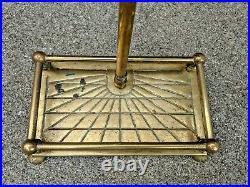 Vintage Antique 5 Piece Brass Fireplace Tool Set