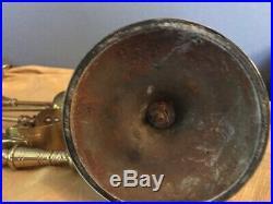 Vintage Antique English Bronze Fireplace Tool Set/Stand 6 Pcs Total Nice