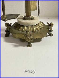 Vintage Brass Cherub Fireplace Tool Set