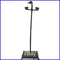 Vintage Brass Duck Fireplace Tool Set Broom Shovel Poker Tongs Stand