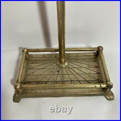 Vintage Brass Duck Head Fireplace Tool Set 6 Piece 5 Tools + Stand