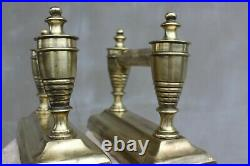 Vintage Brass Fire Dogs with Hearth tool set Fireplace accessories Home decorati