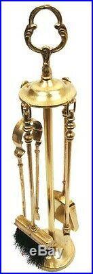 Vintage Brass Fireplace Tools Companion Set, Fireplace Brass Decor