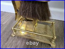 Vintage Brass Gold Fireplace 6 Piece Tool Set