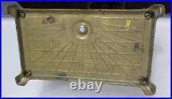 Vintage Brass Mallard Duck Head Fireplace 5 Piece Tool Set 4 Tools & Stand