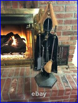 Vintage British Soldier Decor Metal Fireplace Tool Set Andrea by Sadek