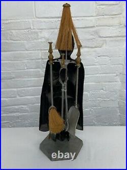 Vintage British Soldier Metal Fireplace Tool Set