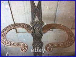 Vintage Cast Iron Fireplace Tool Set Holder Victorian Style No Tools 24
