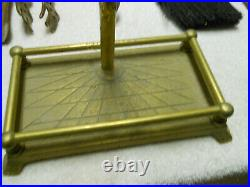 Vintage Collectible Brass Duck Head Fireplace Woodstove Tool Set
