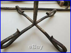 Vintage Fireplace Tool Set With Bellows 6 Piece Set