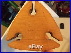 Vintage Fireplace Tool Set Wood Brass Iron Mid Century Modern Modernist Eames