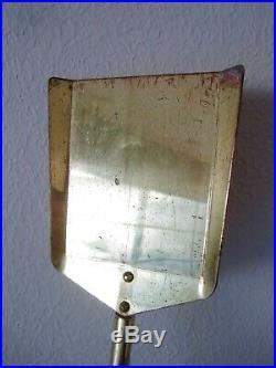 Vintage Fontana Arte attributed brass glass fireplace tool set modernist Deco
