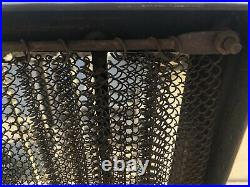 Vintage Hand Forged Cast Iron Steel Scroll Fireplace Tool Log Holder Screen SET