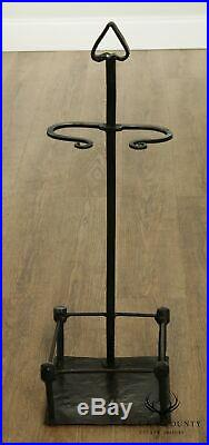 Vintage Hand Forged Iron Set Fireplace Tools