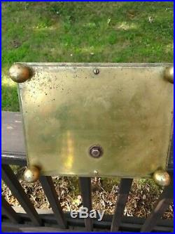 Vintage Heavy Set of English Brass Fireplace Hearth Tools