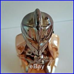 Vintage Knight Enamel Cast Iron Copper Fireplace Tools Set England