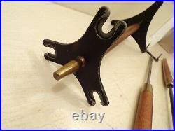 Vintage MCM wood fireplace tool set Seymour Danish Modern Mid Century 540
