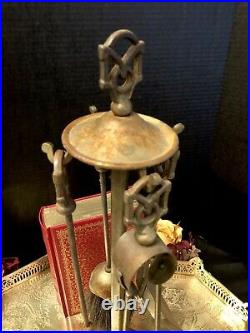 Vintage Metal Small Fireplace Tool Set Rustic Shabby Chic Decorative 5 Pieces